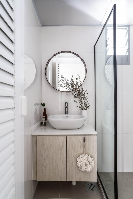 Scandinavian, HDB, Bathroom, Tampines GreenView, Interior Designer, Couple Abode