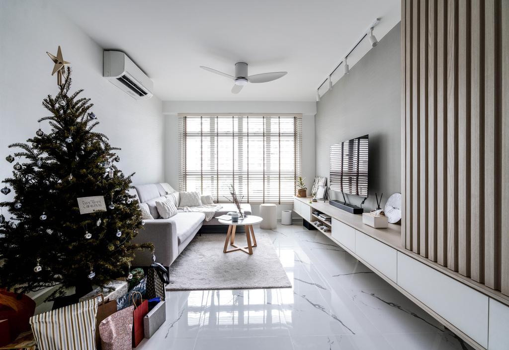 Scandinavian, HDB, Living Room, Tampines GreenView, Interior Designer, Couple Abode