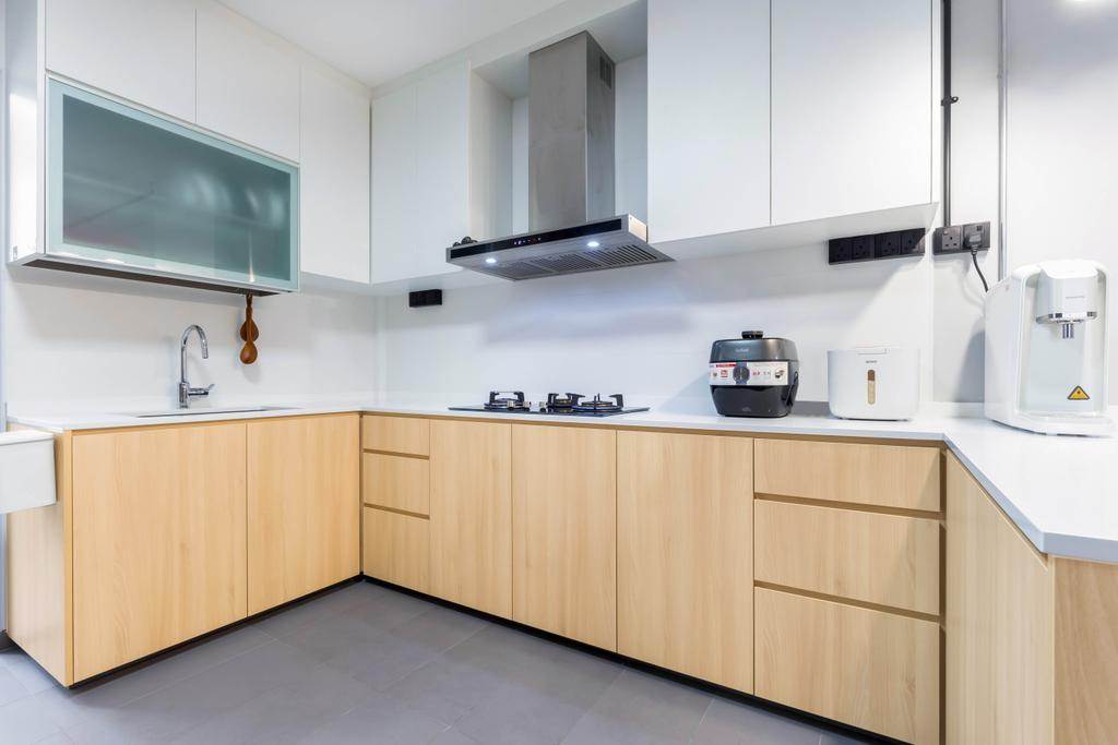 Contemporary, HDB, Kitchen, Yung Loh Road, Interior Designer, Craftsmen Atelier, Scandinavian