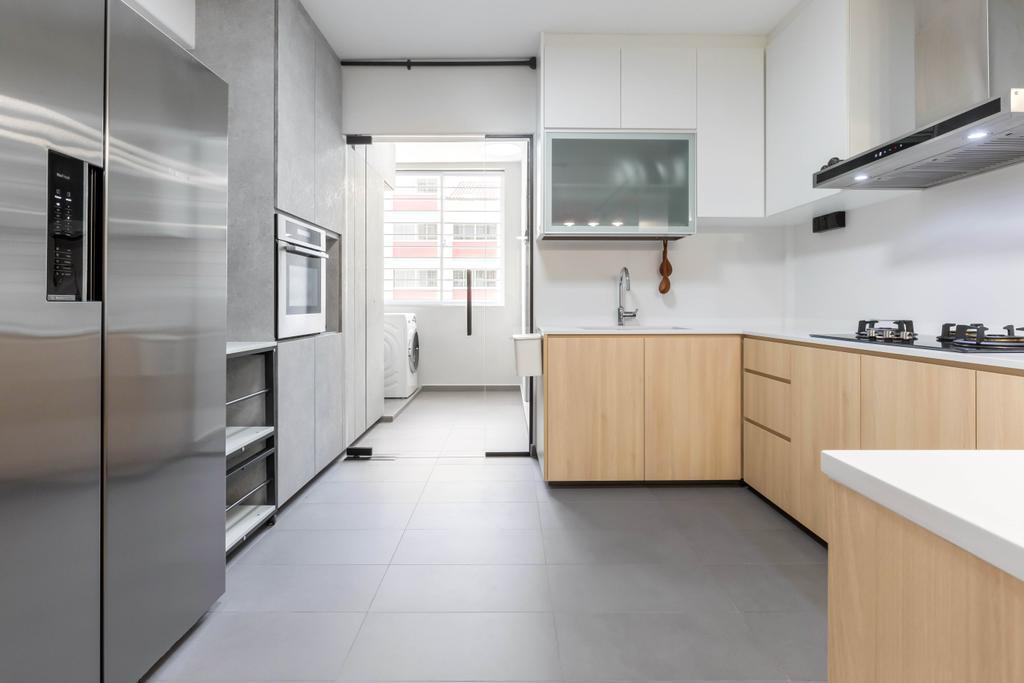 Contemporary, HDB, Kitchen, Yung Loh Road, Interior Designer, Craftsmen Atelier, Scandinavian