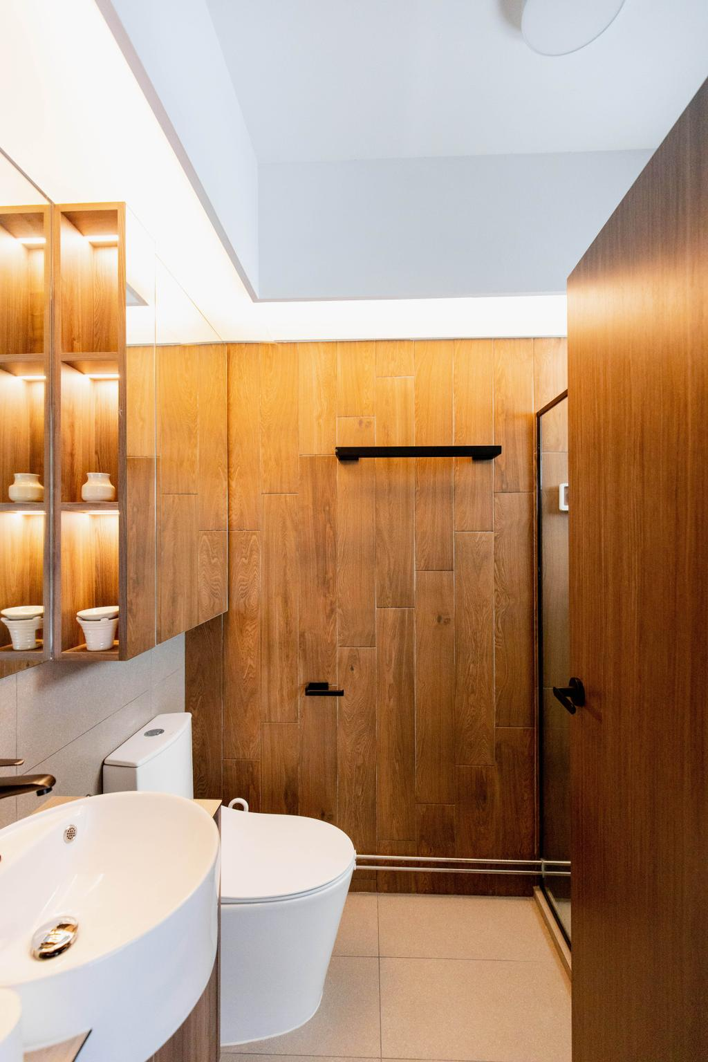 Modern, HDB, Bathroom, Holland Drive, Interior Designer, Forefront Interior, Scandinavian