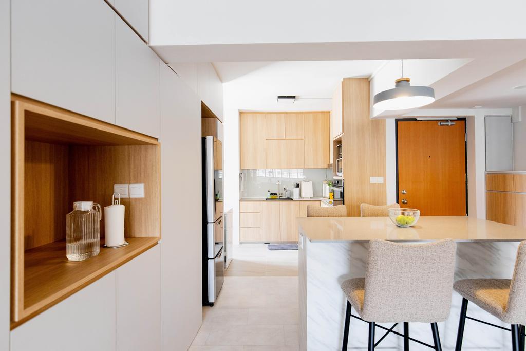 Contemporary, HDB, Dining Room, Serangoon Avenue 4, Interior Designer, Forefront Interior, Scandinavian