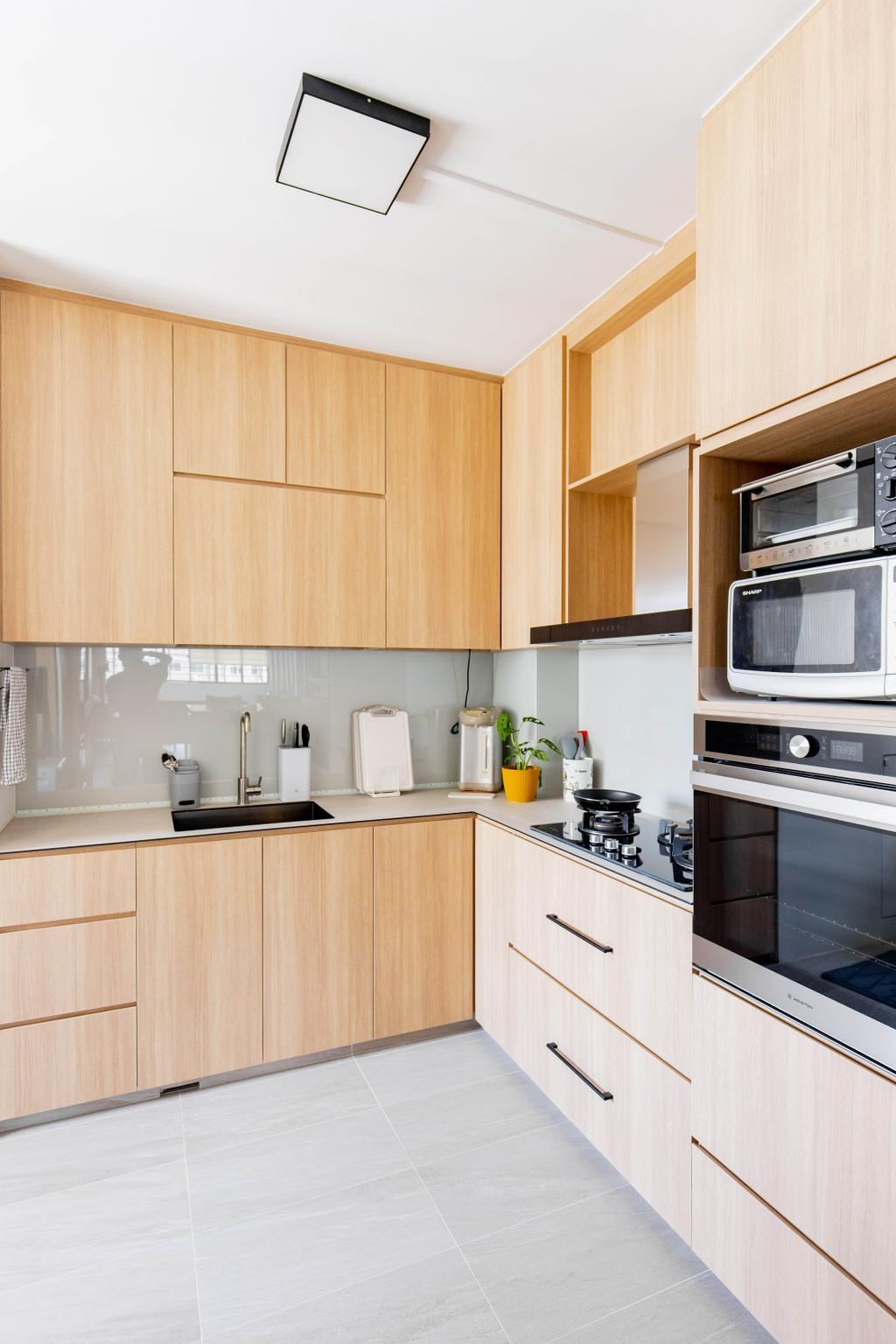 Contemporary, HDB, Kitchen, Serangoon Avenue 4, Interior Designer, Forefront Interior, Scandinavian