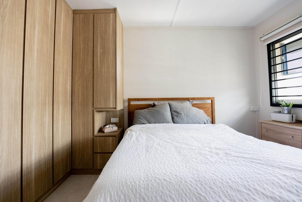 Contemporary, HDB, Bedroom, Serangoon Avenue 4, Interior Designer, Forefront Interior, Scandinavian