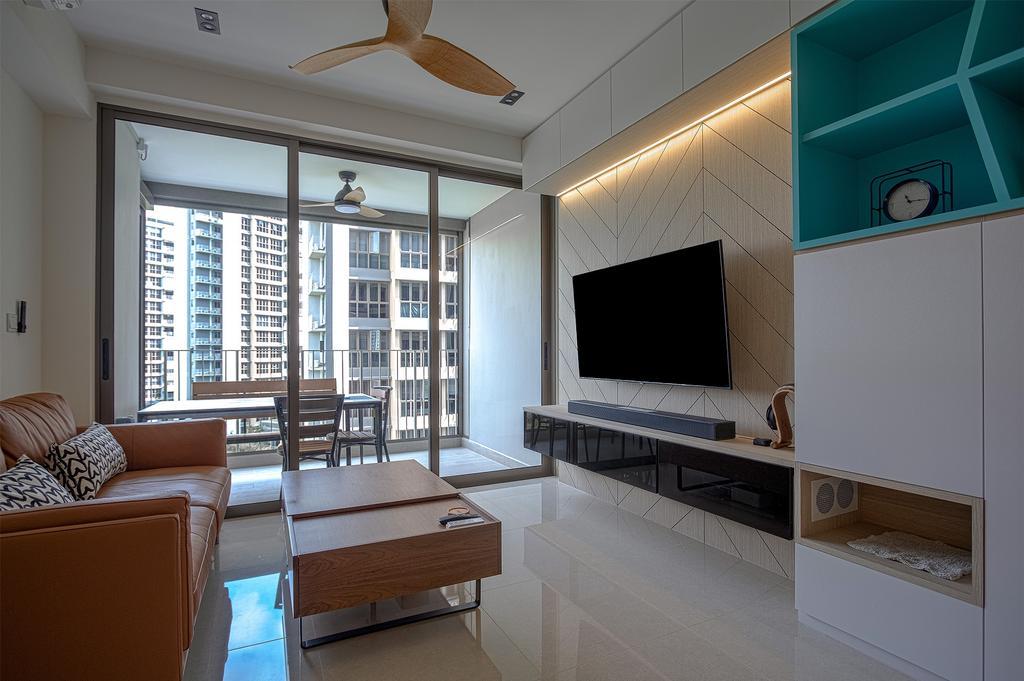 Contemporary, Condo, Living Room, Rivercove Residences, Interior Designer, Design Story