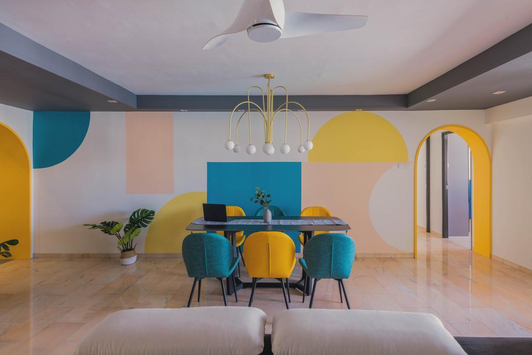 Canberra Road, Urban Home Design 二本設計家, Contemporary, Scandinavian, Dining Room, HDB, Arch