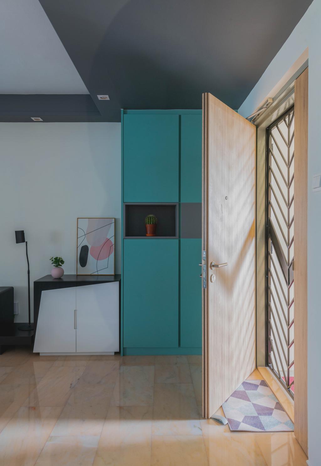 Contemporary, HDB, Living Room, Canberra Road, Interior Designer, Urban Home Design 二本設計家, Scandinavian
