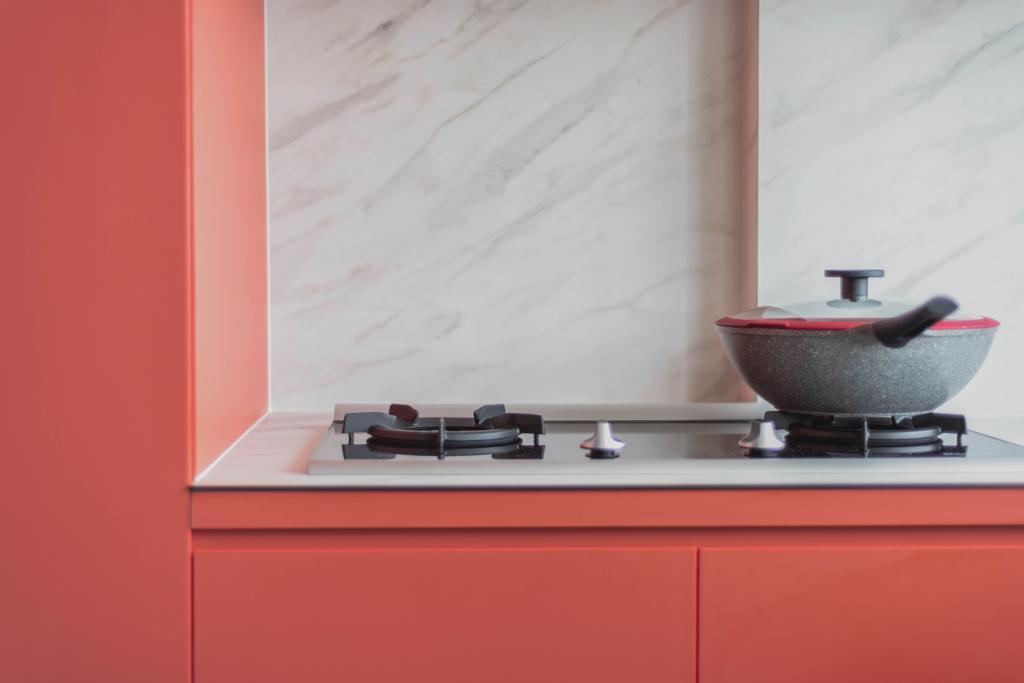 Contemporary, HDB, Kitchen, Canberra Road, Interior Designer, Urban Home Design 二本設計家, Scandinavian