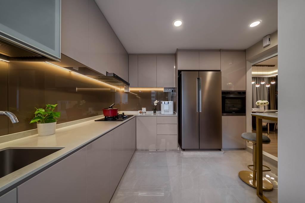 Modern, HDB, Kitchen, Hougang Avenue 2, Interior Designer, Weiken.com, Contemporary