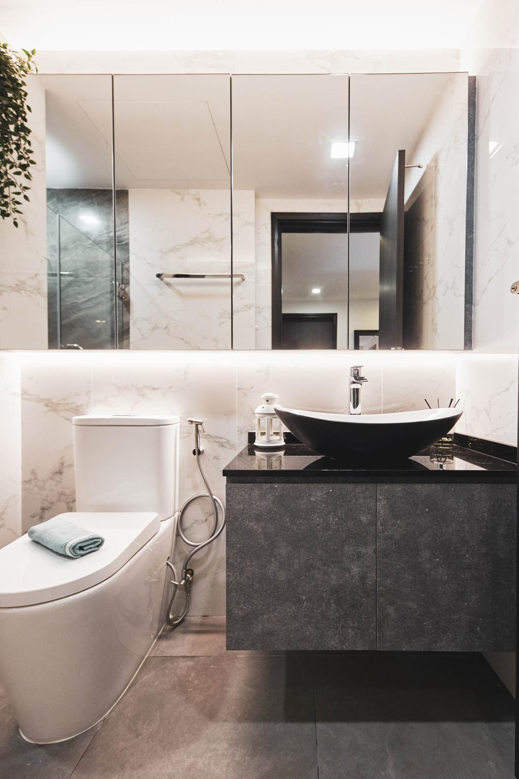Modern, Condo, Bathroom, The Bayshore, Interior Designer, MET Interior, Contemporary