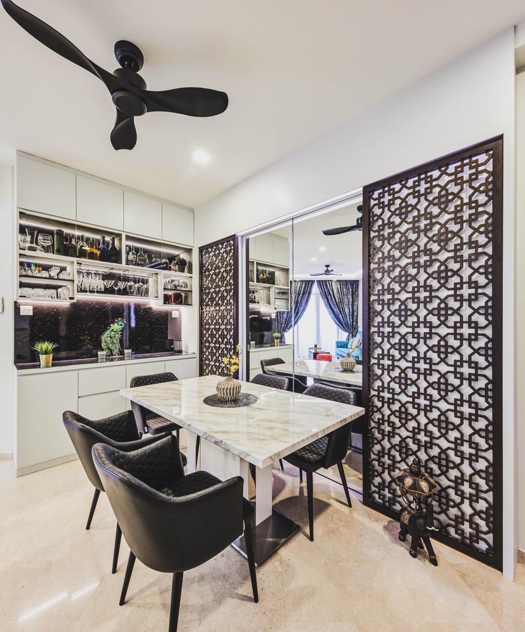 Modern, Condo, Dining Room, The Bayshore, Interior Designer, MET Interior, Contemporary