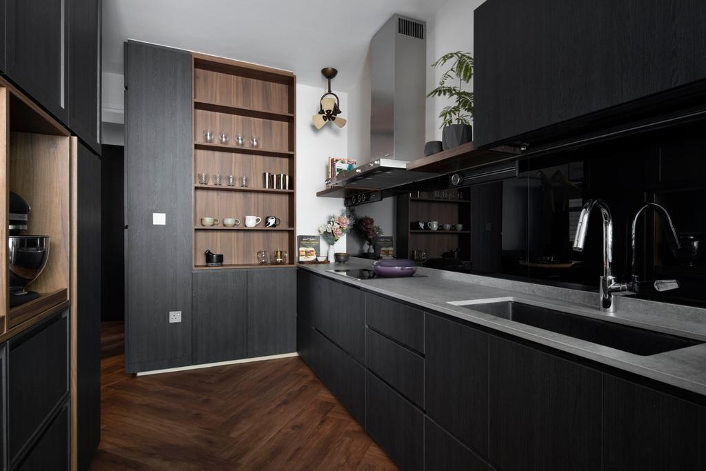 Contemporary, HDB, Kitchen, Woodlands Avenue 1, Interior Designer, Prozfile Design