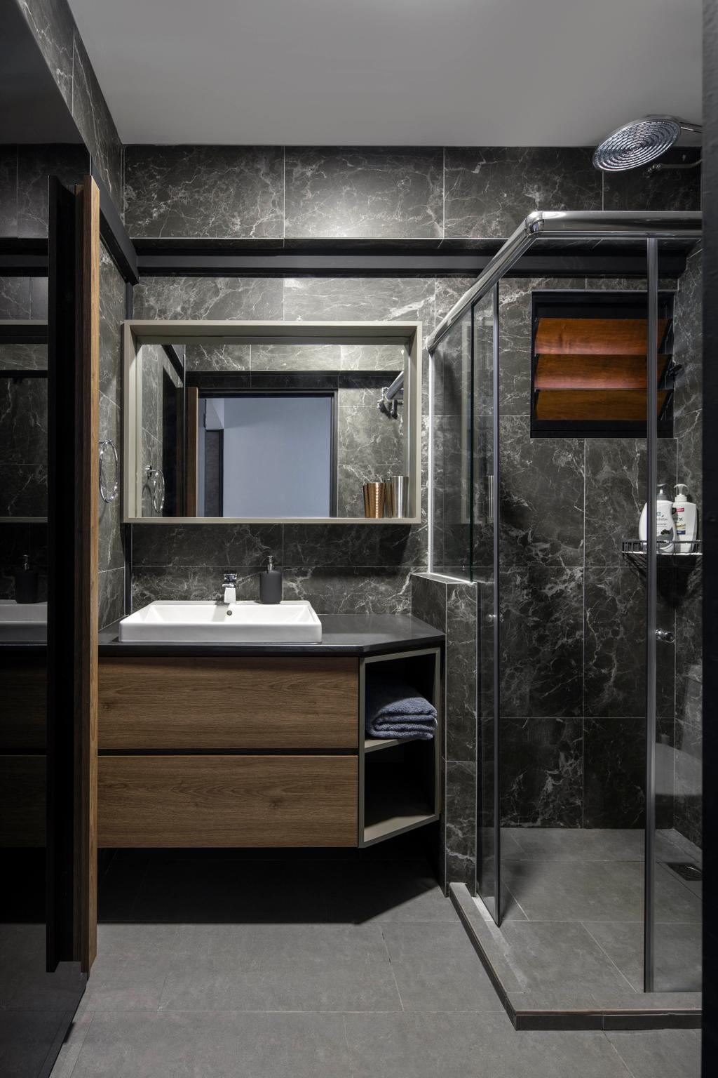 Contemporary, HDB, Bathroom, Woodlands Avenue 1, Interior Designer, Prozfile Design