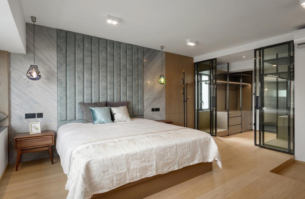當代, 私家樓, 睡房, 新麗苑, 室內設計師, AQUA Projects