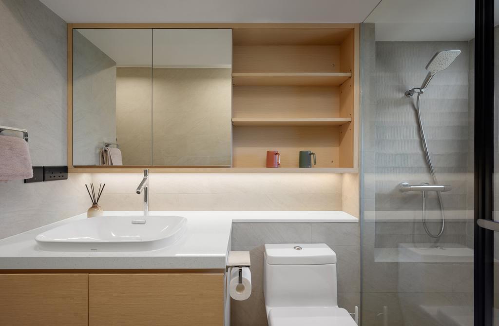 當代, 私家樓, 浴室, 新麗苑, 室內設計師, AQUA Projects