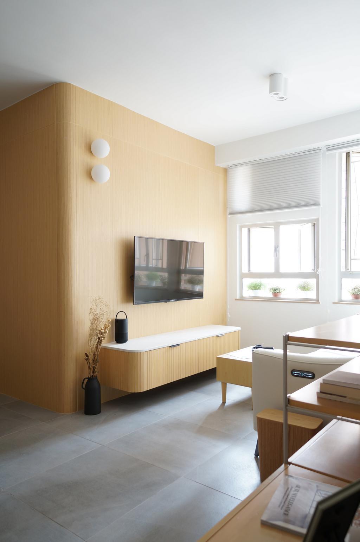 簡約, 公屋/居屋, 客廳, 沙田愉田苑, 室內設計師, hoom studio
