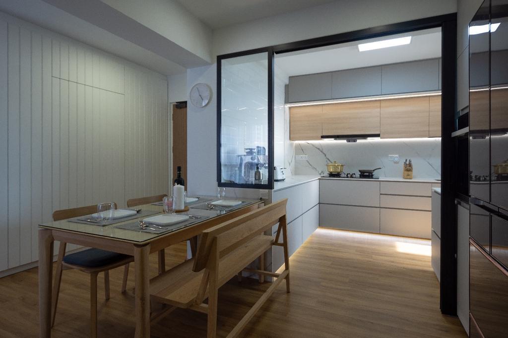 Contemporary, HDB, Dining Room, Clementi, Interior Designer, Brown Studio Interior Design, Scandinavian