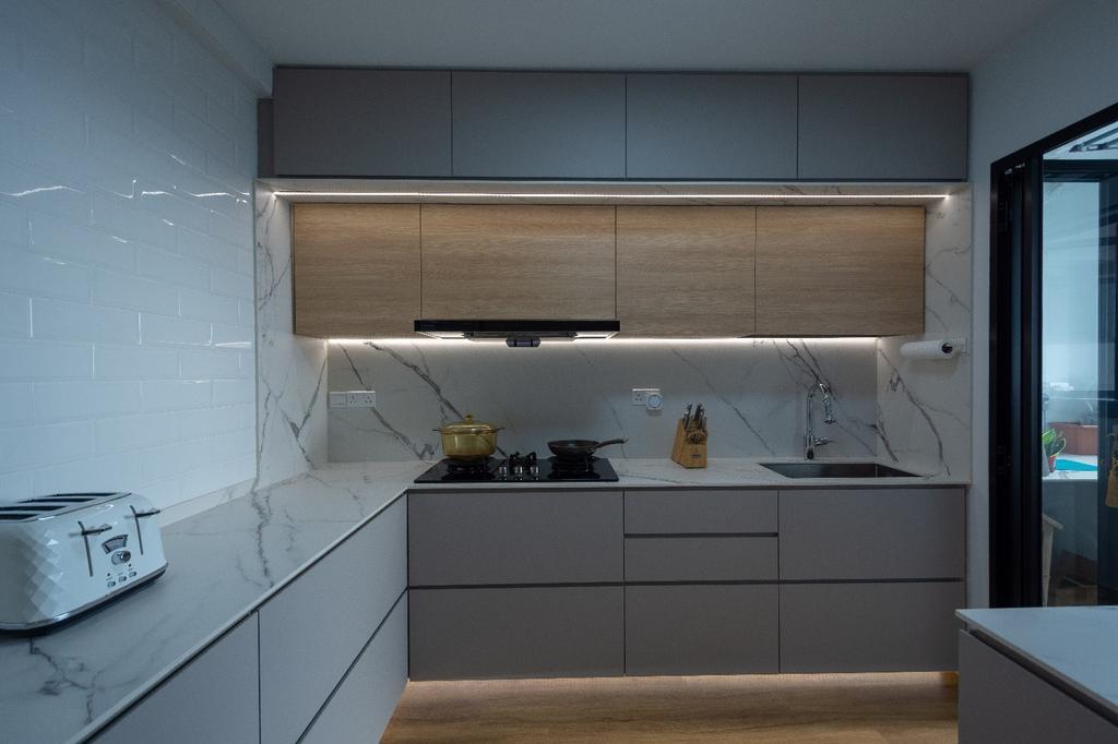 Contemporary, HDB, Kitchen, Clementi, Interior Designer, Brown Studio Interior Design, Scandinavian