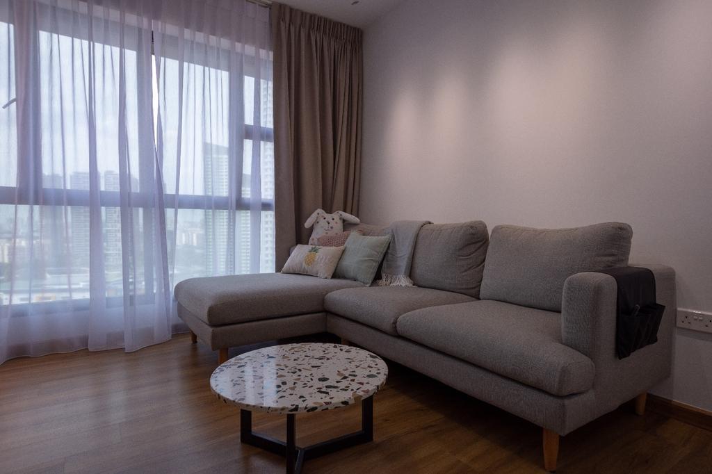 Contemporary, HDB, Living Room, Clementi, Interior Designer, Brown Studio Interior Design, Scandinavian