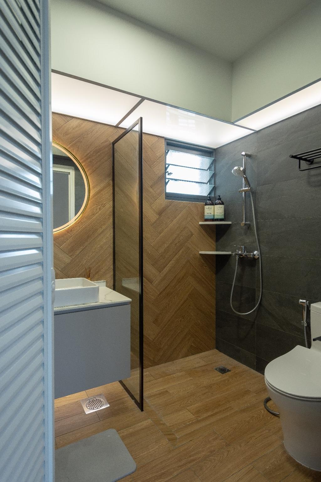 Contemporary, HDB, Bathroom, Clementi, Interior Designer, Brown Studio Interior Design, Scandinavian