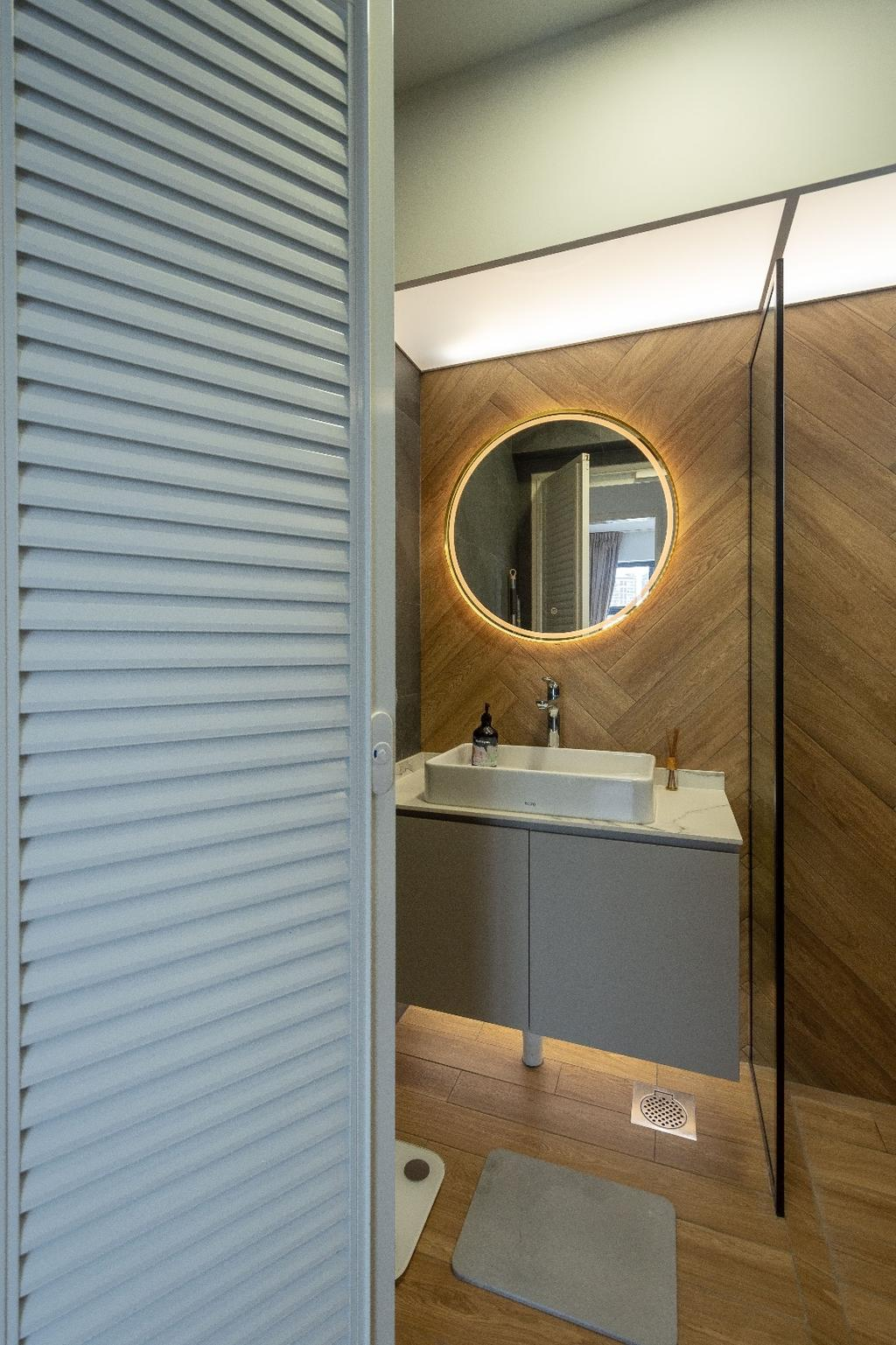 Contemporary, HDB, Bathroom, Clementi, Interior Designer, Brown Studio Interior Design, Scandinavian