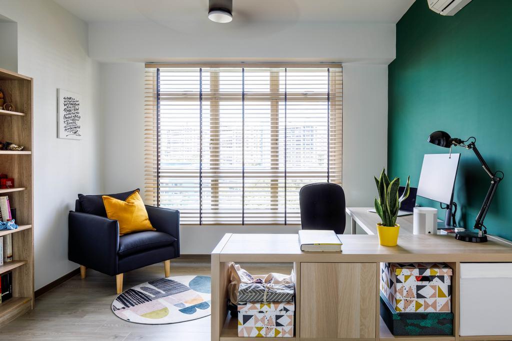 Scandinavian, HDB, Study, Compassvale Lane, Interior Designer, ELPIS Interior Design