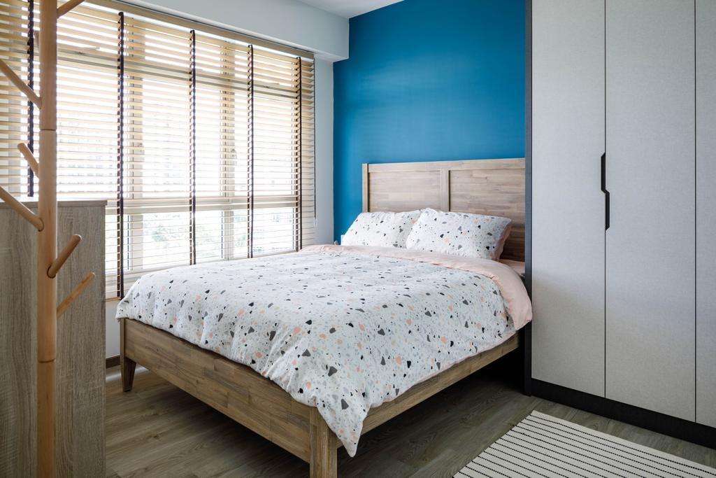 Scandinavian, HDB, Bedroom, Compassvale Lane, Interior Designer, ELPIS Interior Design