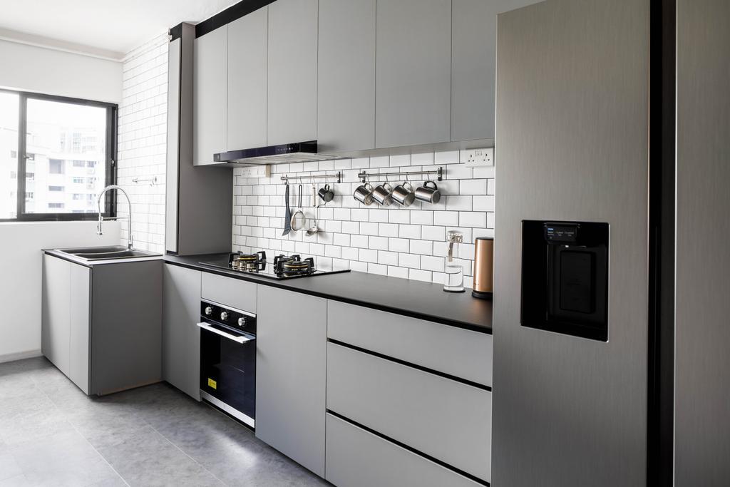 Contemporary, HDB, Kitchen, Serangoon Avenue 3, Interior Designer, ELPIS Interior Design