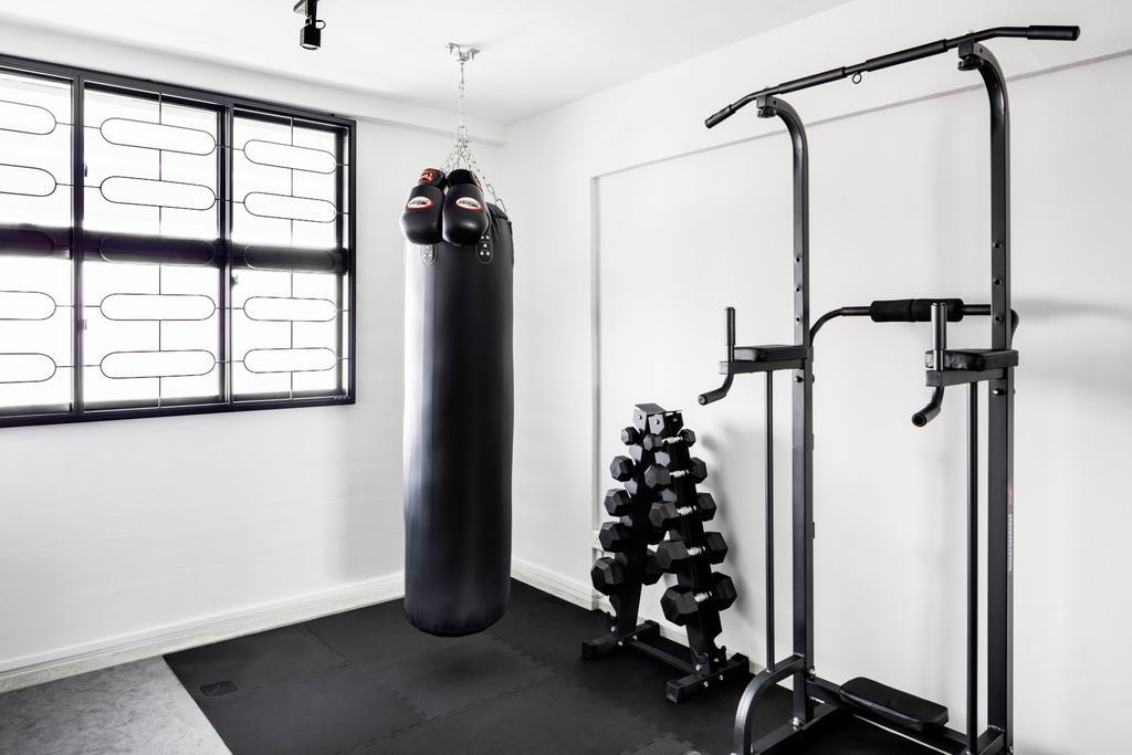 Contemporary, HDB, Bedroom, Serangoon Avenue 3, Interior Designer, ELPIS Interior Design, Gym, Fitness, Exercise