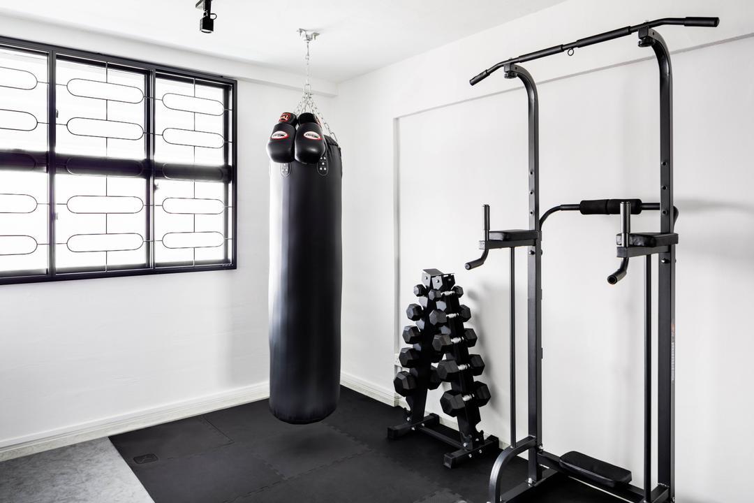 Serangoon Avenue 3, ELPIS Interior Design, Contemporary, Bedroom, HDB, Gym, Fitness, Exercise