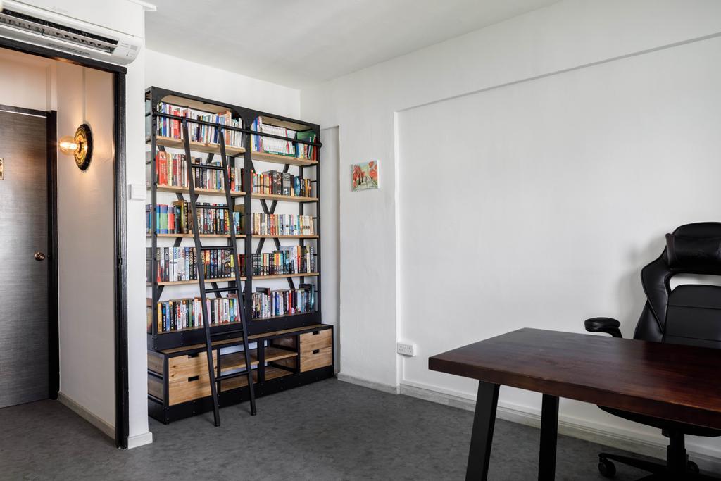 Contemporary, HDB, Study, Serangoon Avenue 3, Interior Designer, ELPIS Interior Design