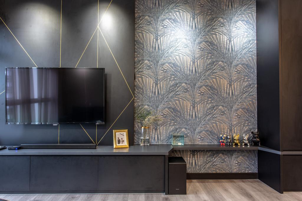 Modern, HDB, Living Room, Compassvale Crescent, Interior Designer, Builders Plus, Contemporary