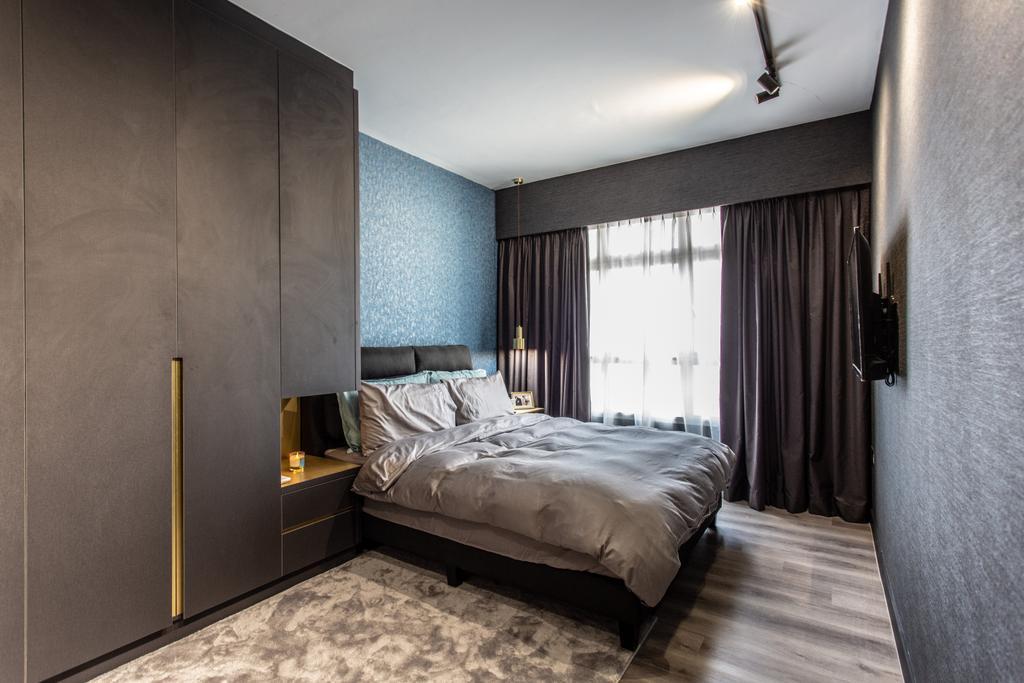 Modern, HDB, Bedroom, Compassvale Crescent, Interior Designer, Builders Plus, Contemporary