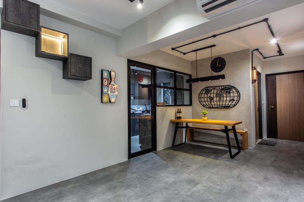 Contemporary, HDB, Dining Room, Sumang Walk, Interior Designer, Builders Plus, Industrial