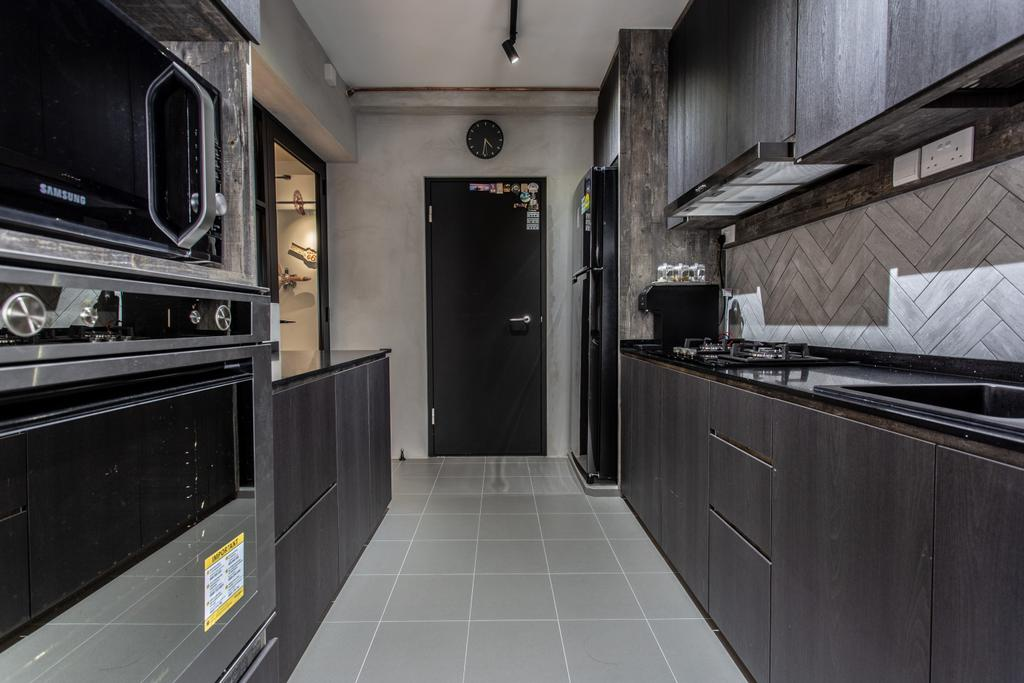 Contemporary, HDB, Kitchen, Sumang Walk, Interior Designer, Builders Plus, Industrial