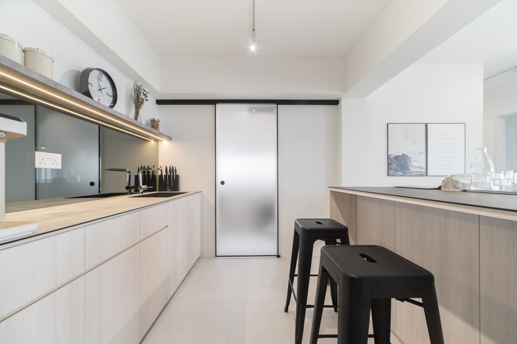 Scandinavian, HDB, Kitchen, Edgedale Plains, Interior Designer, Builders Plus, Minimalistic