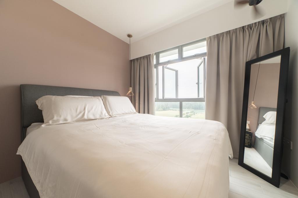 Scandinavian, HDB, Bedroom, Edgedale Plains, Interior Designer, Builders Plus, Minimalistic