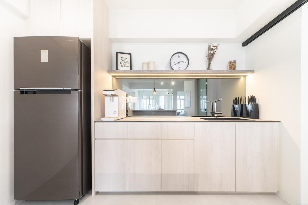 Scandinavian, HDB, Kitchen, Edgedale Plains, Interior Designer, Builders Plus, Minimalistic