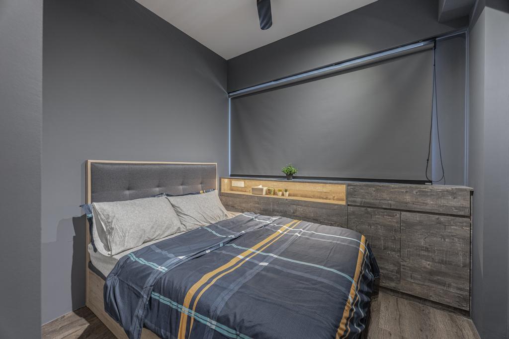 Modern, Condo, Bedroom, The Alps Residences, Interior Designer, Builders Plus, Scandinavian
