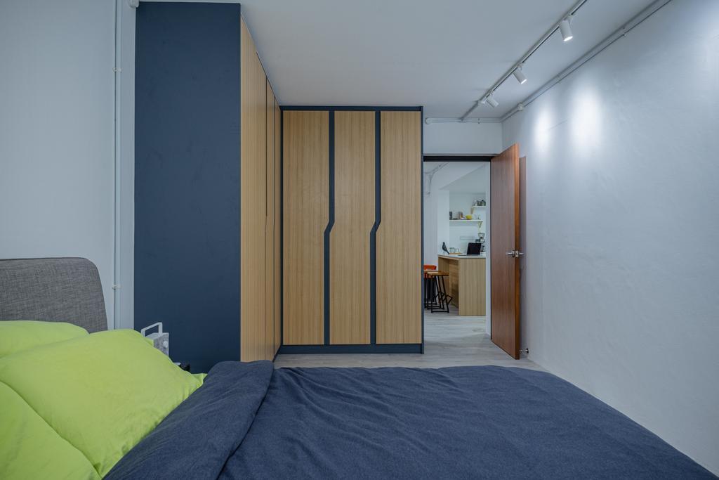 Modern, HDB, Bedroom, Simei Street 1, Interior Designer, Builders Plus, Scandinavian