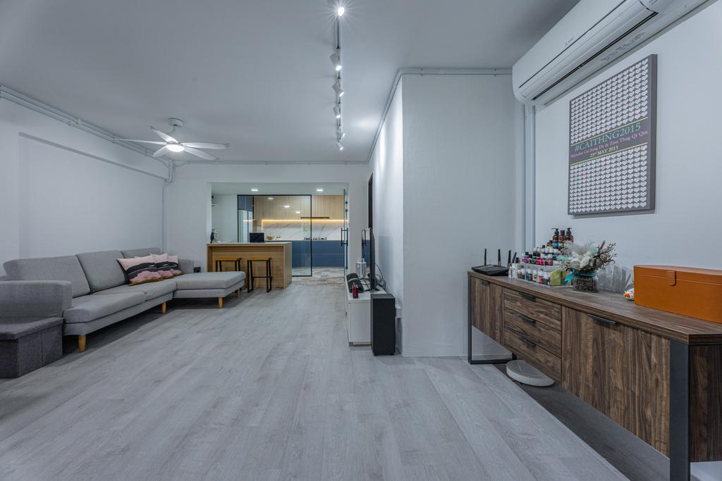 Modern, HDB, Living Room, Simei Street 1, Interior Designer, Builders Plus, Scandinavian
