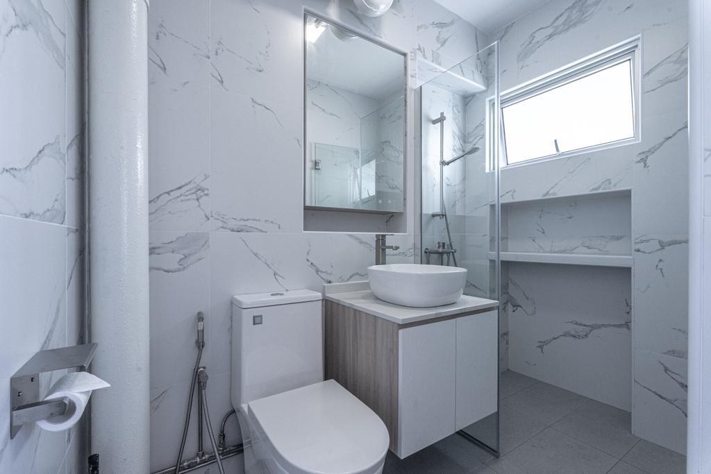 Modern, HDB, Bathroom, Pasir Ris Street 21, Interior Designer, Builders Plus
