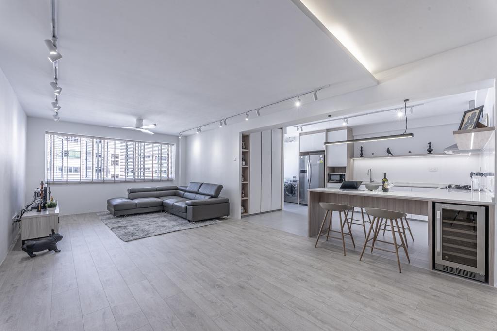 Modern, HDB, Living Room, Pasir Ris Street 21, Interior Designer, Builders Plus