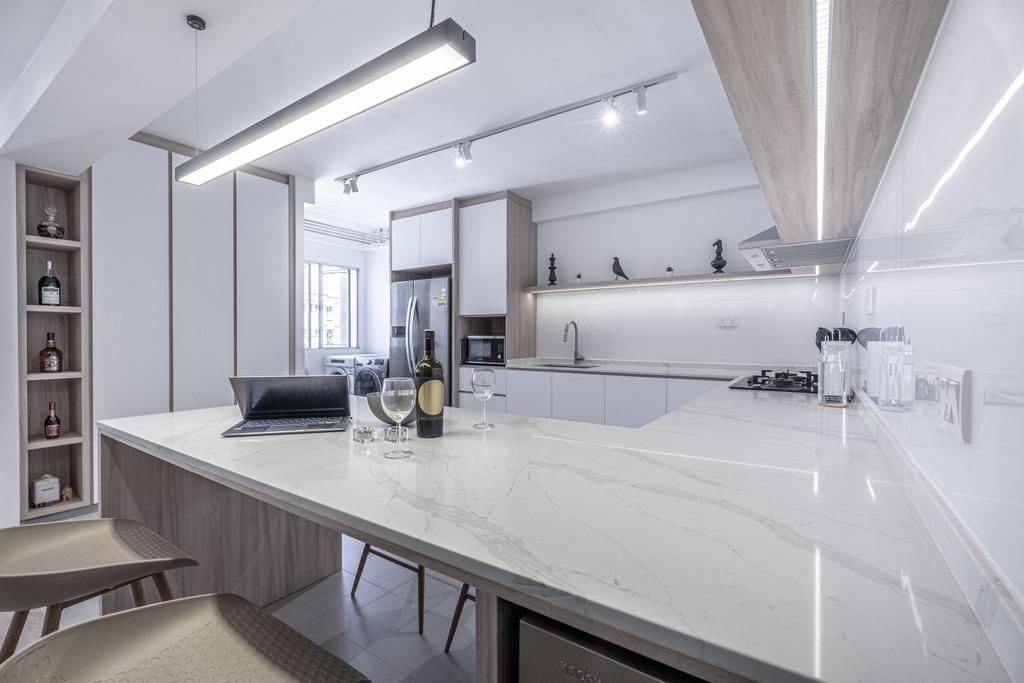 Modern, HDB, Kitchen, Pasir Ris Street 21, Interior Designer, Builders Plus