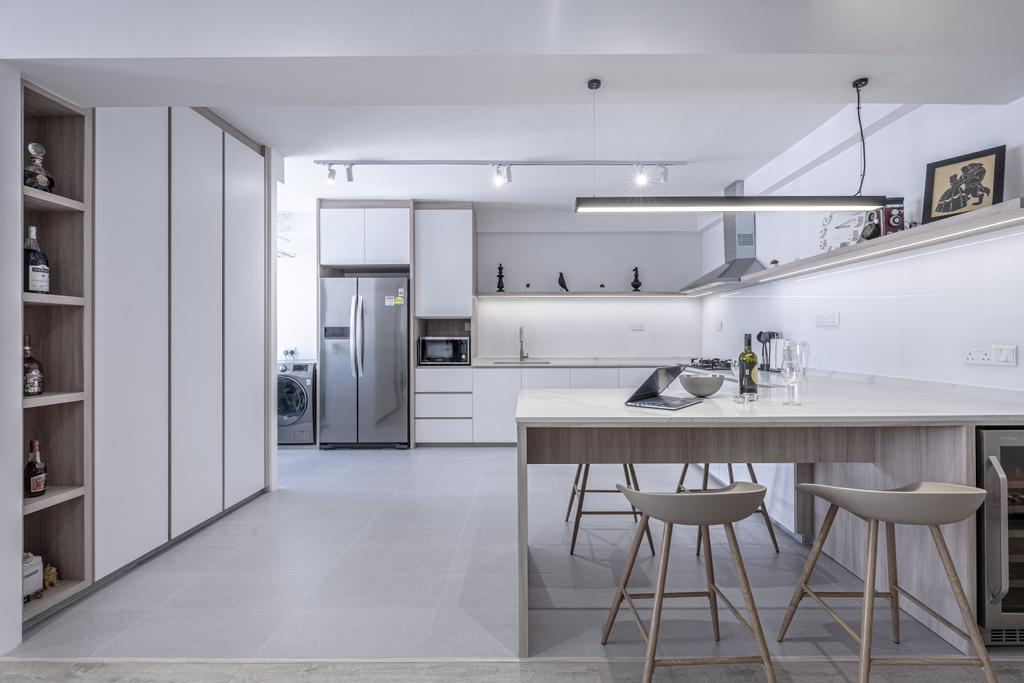 Modern, HDB, Dining Room, Pasir Ris Street 21, Interior Designer, Builders Plus