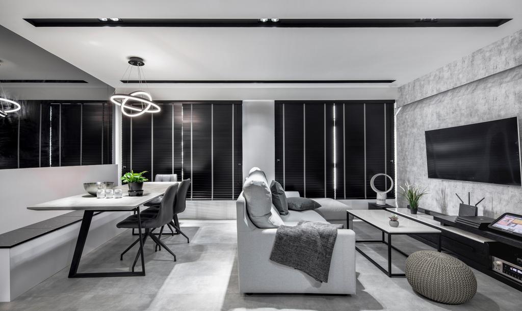 Contemporary, HDB, Living Room, Sumang Walk, Interior Designer, Builders Plus