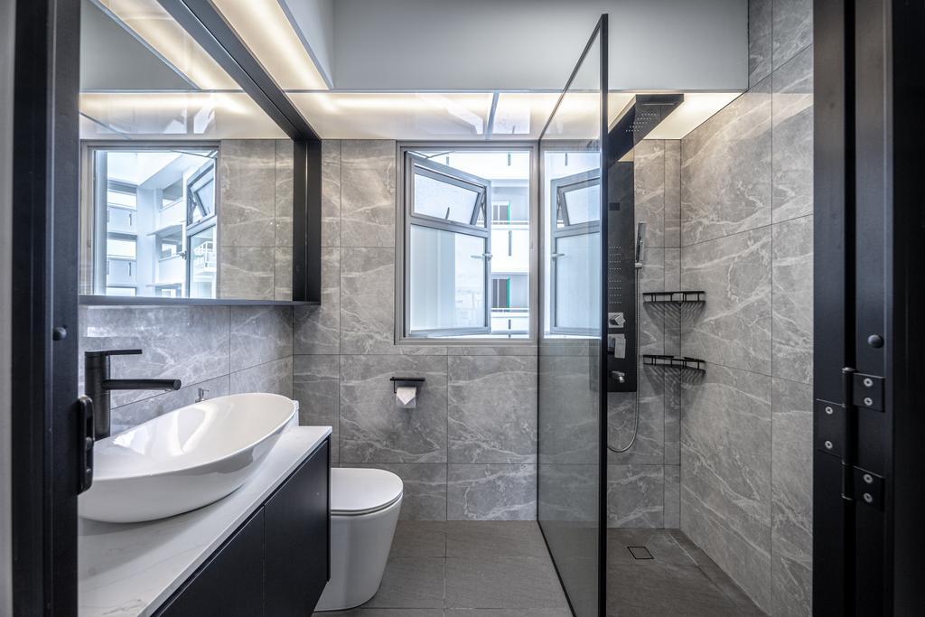 Modern, HDB, Bathroom, Tampines North Drive 1, Interior Designer, Builders Plus, Contemporary