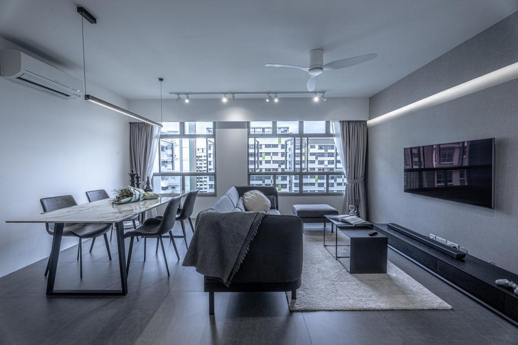Modern, HDB, Living Room, Tampines North Drive 1, Interior Designer, Builders Plus, Contemporary