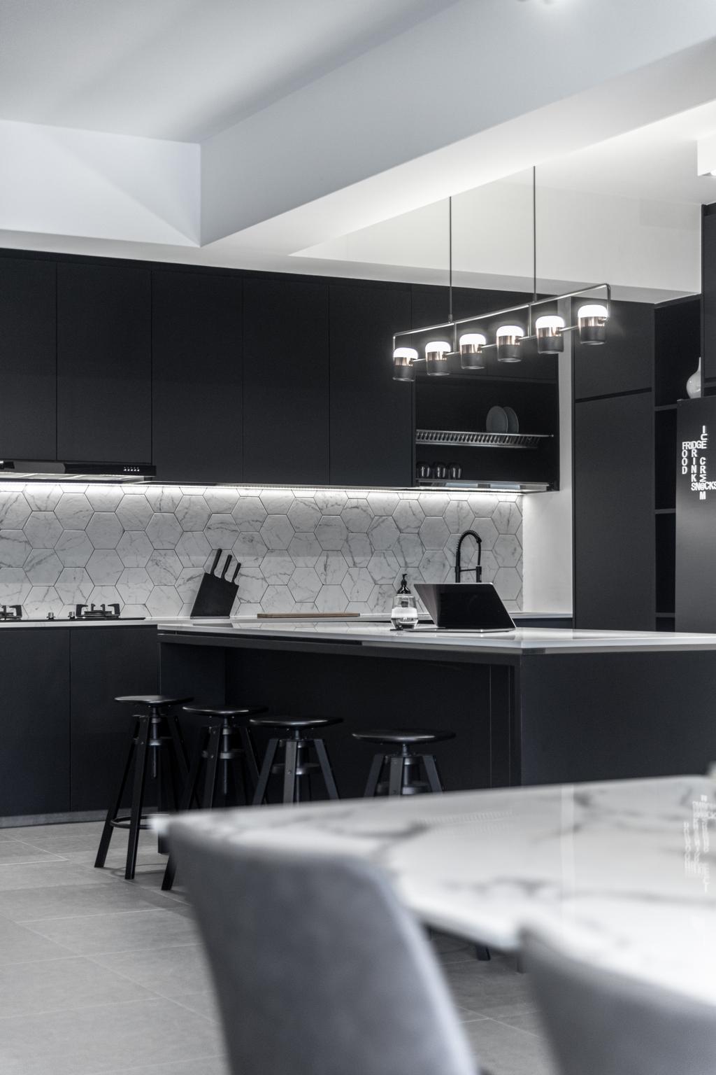 Modern, HDB, Kitchen, Tampines North Drive 1, Interior Designer, Builders Plus, Contemporary