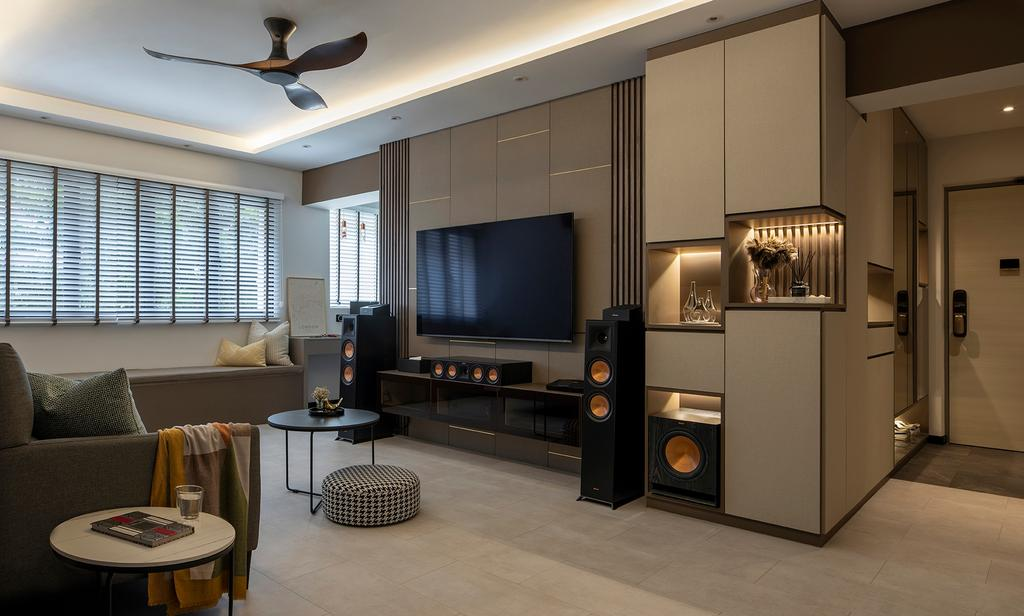Modern, HDB, Living Room, Bishan Street 22, Interior Designer, ELPIS Interior Design, Contemporary